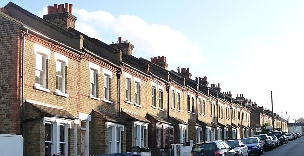 UK street in London where houses prices are set to drop. Photo credit: Stephen Richards http://www.geograph.org.uk/profile/34784